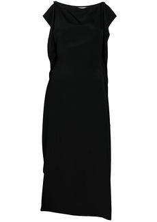 McQ Alexander McQueen silk draped midi dress