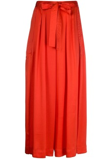 McQ Alexander McQueen silk high waisted palazzo trousers