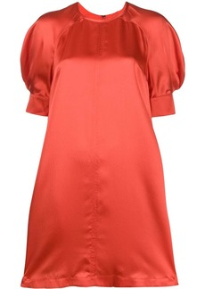 McQ Alexander McQueen silk short sleeve dress