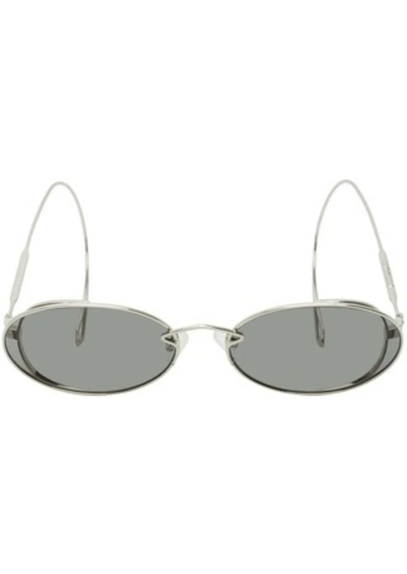 McQ Alexander McQueen Silver Chain Cable Tip Sunglasses