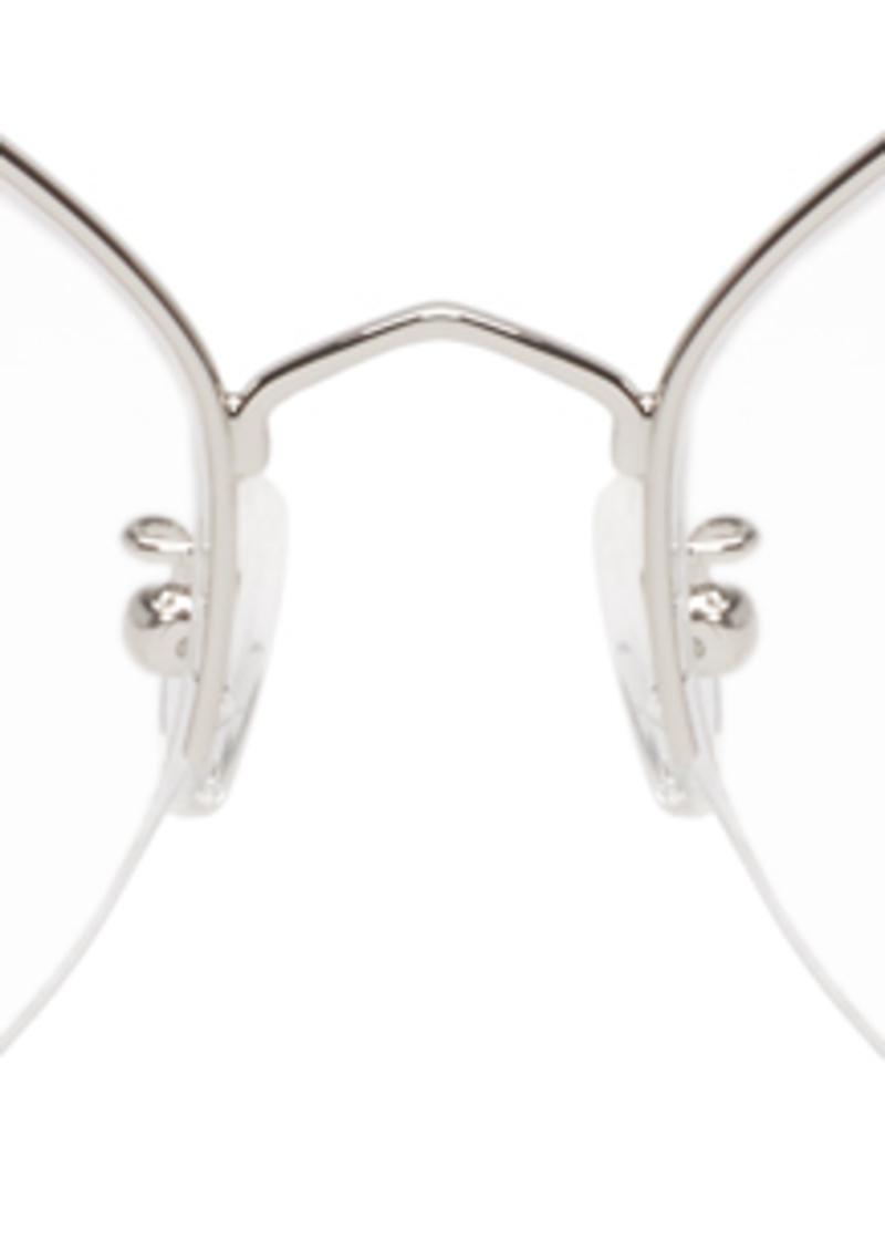 McQ Alexander McQueen Silver Hexagonal Glasses