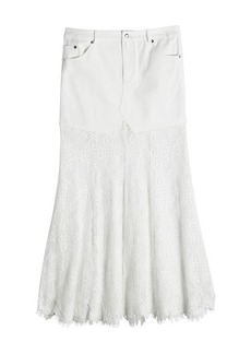 McQ Alexander McQueen Skirt with Lace