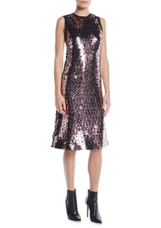 McQ Alexander McQueen Sleeveless Sequin Tank Dress