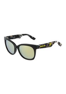 McQ Alexander McQueen Square Acetate Bird Sunglasses