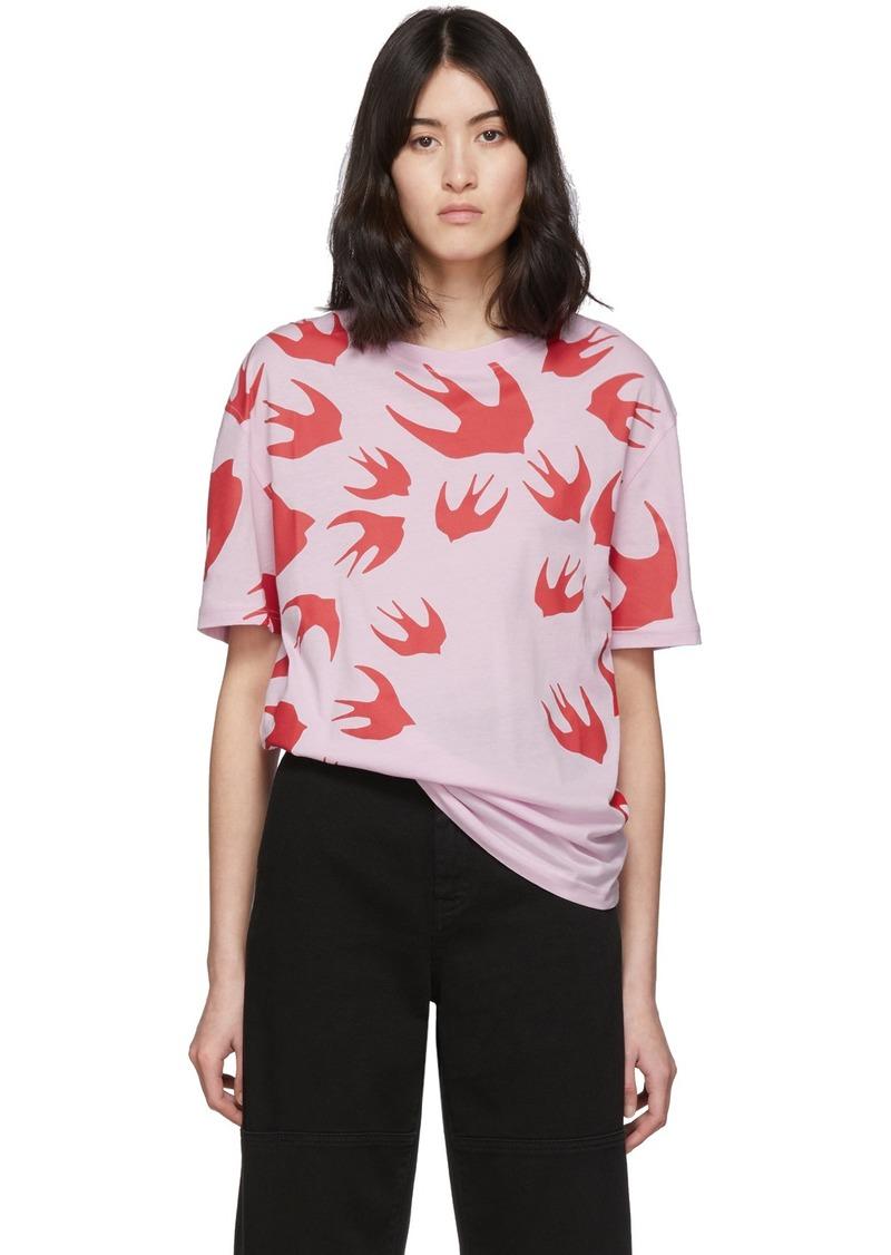 McQ Alexander McQueen SSENSE Exclusive Pink Swallow T-Shirt