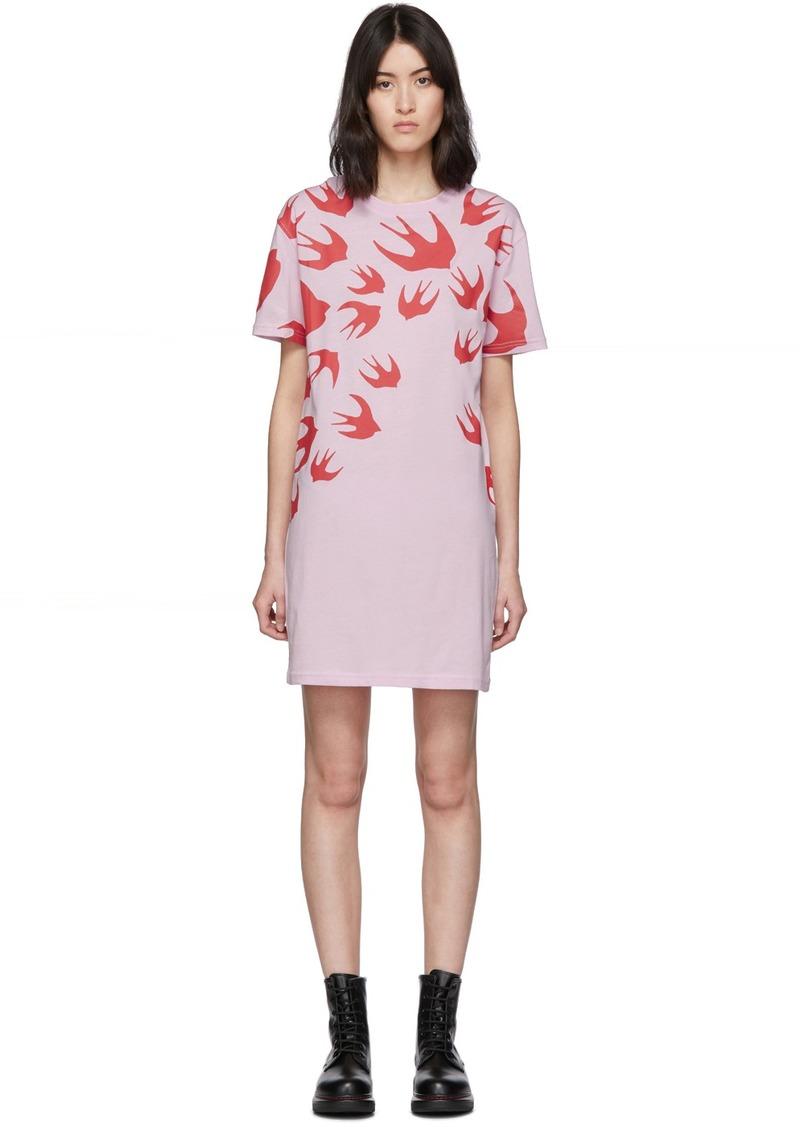 McQ Alexander McQueen SSENSE Exclusive Pink Swallow T-Shirt Dress