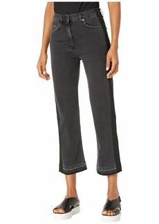 McQ Alexander McQueen Straight Leg Jeans in Black Denim