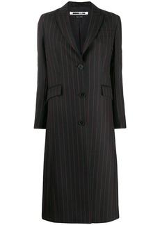 McQ Alexander McQueen striped midi coat