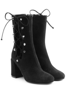 McQ Alexander McQueen Suede Boots with Lace-Up Sides