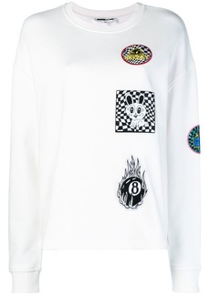 McQ Alexander McQueen Supersized patch-appliquéd sweatshirt