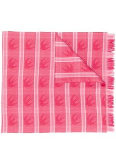 McQ Alexander McQueen Swallow checked scarf