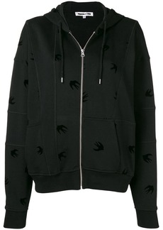 McQ Alexander McQueen swallow embroidered hoodie