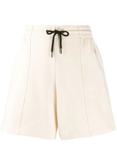 McQ Alexander McQueen Swallow embroidery cotton track shorts