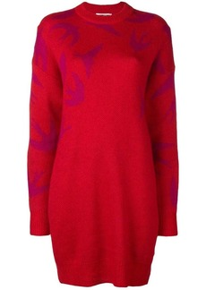 McQ Alexander McQueen swallow intarsia jumper dress