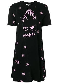 McQ Alexander McQueen Swallow Monster T-shirt dress
