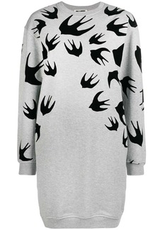 McQ Alexander McQueen swallow print dress