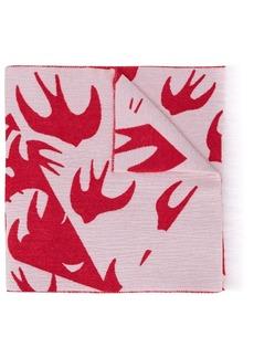 McQ Alexander McQueen Swallow print scarf