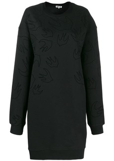 McQ Alexander McQueen Swallow print sweater dress