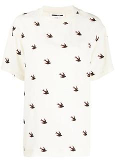 McQ Alexander McQueen swallow print T-shirt