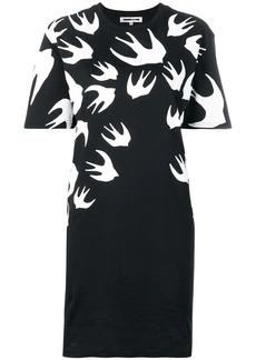 McQ Alexander McQueen swallow print T-shirt dress