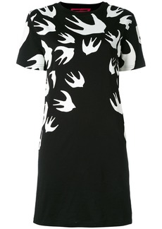 McQ Alexander McQueen Swallow Signature T-shirt dress