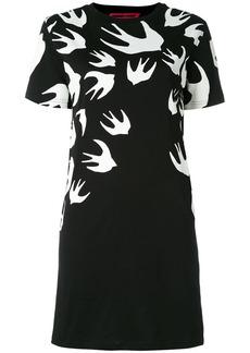 McQ Alexander McQueen Swallow Signature T-shirt dress