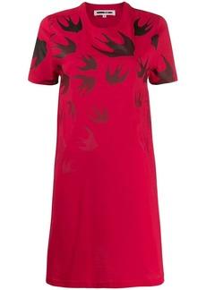 McQ Alexander McQueen Swallow Swarm-print T-shirt dress
