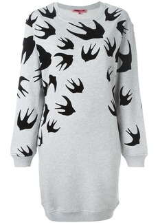 McQ Alexander McQueen 'Swallow' sweatshirt dress