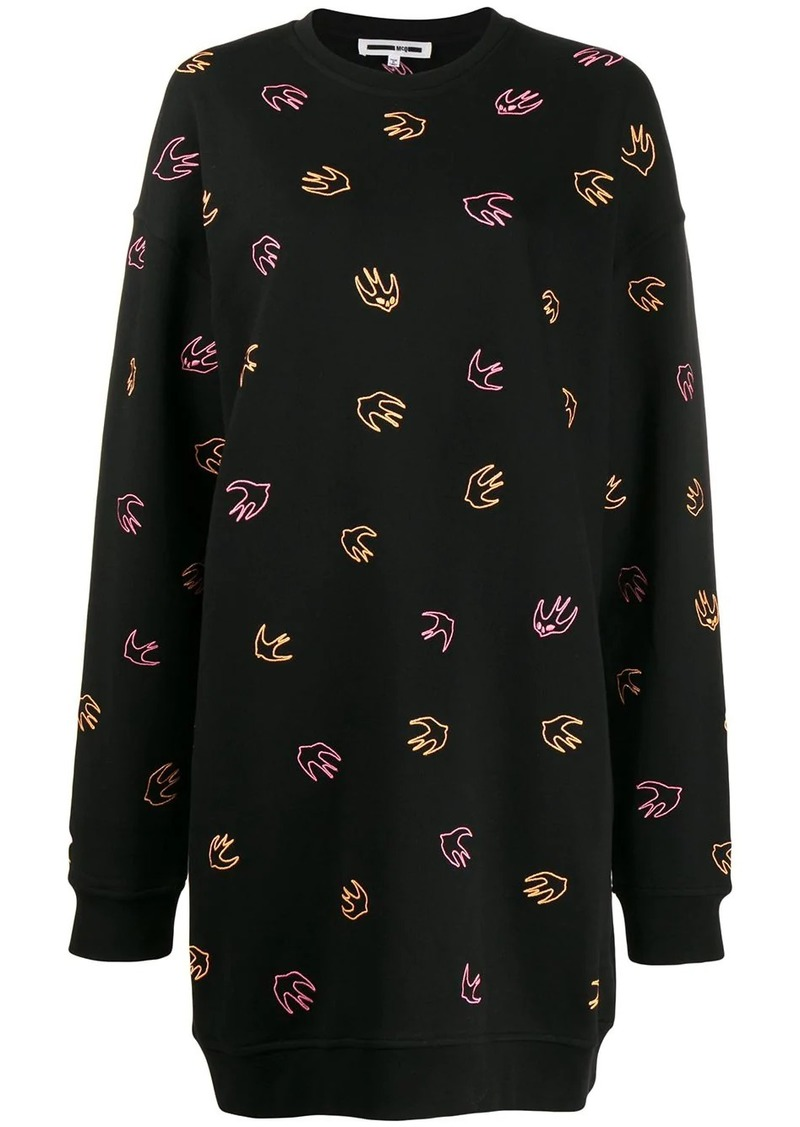 McQ Alexander McQueen swallow sweatshirt dress