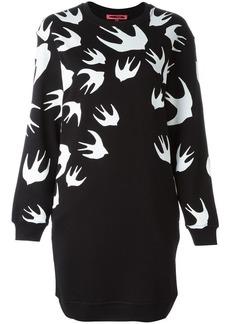 McQ Alexander McQueen 'Swallow' sweatshirt dress