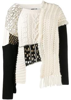 McQ Alexander McQueen Tama patchwork knit jumper