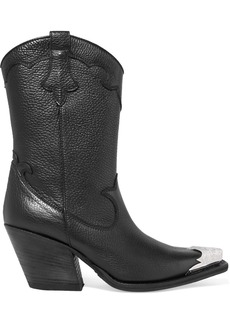 McQ Alexander McQueen Tammy Embellished Textured-leather Ankle Boots