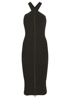 McQ Alexander McQueen Tape Bodycon Halter Dress