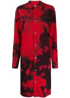 McQ Alexander McQueen Tatsuko tie-dye shirt dress
