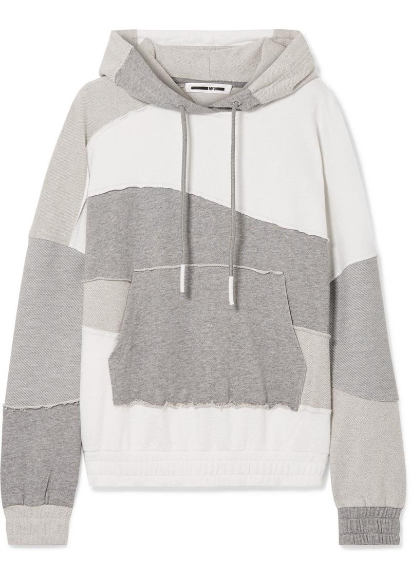 McQ Alexander McQueen Terry-panelled Cotton-jersey Hoodie