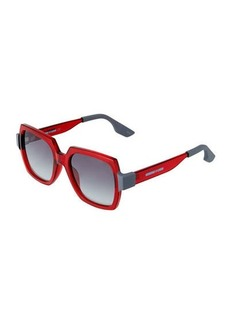 McQ Alexander McQueen Two-Tone Square Plastic Sunglasses