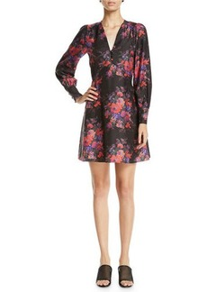 McQ Alexander McQueen Vintage Floral-Print Empire Short Dress