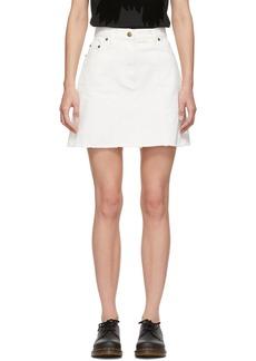 McQ Alexander McQueen White Denim Recycled Miniskirt