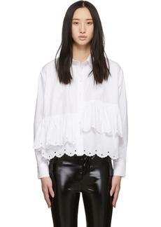 McQ Alexander McQueen White Scallop Hem Shirt