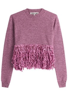 McQ Alexander McQueen Wool Pullover with Fringe