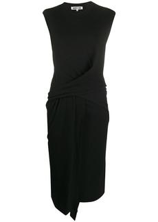 McQ Alexander McQueen wrap-front wool blend tunic dress