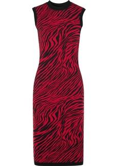 McQ Alexander McQueen Zebra-print Cotton Midi Dress
