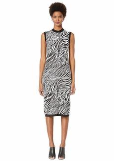 McQ Alexander McQueen Zebra Tube Dress