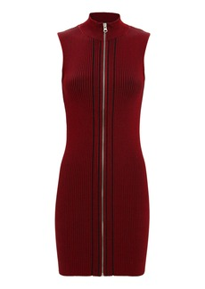 McQ Alexander McQueen Zip Ribbed Mini Dress