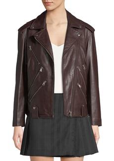 McQ Alexander McQueen Zippers Leather Biker Jacket