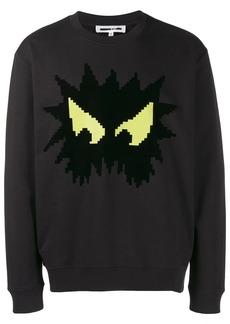 McQ angry eyes sweatshirt