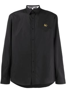 McQ bird embroidered cotton shirt