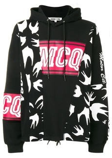 McQ bird print hoodie