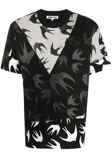 McQ swallow-print panelled T-shirt