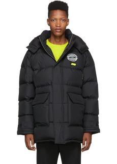 McQ Black Down Polar Coat